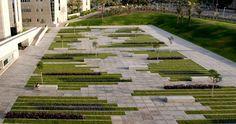 Designer: Chyutin Architects.  Project:  Ben- Gurion University Campus  Location: Be'er Sheba, Israel,     More Info: http://www.dezeen.com/2011/01/12/bgu-university-entrance-square-by-chyutin-architects/