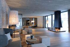 contemporary ski lodge interior