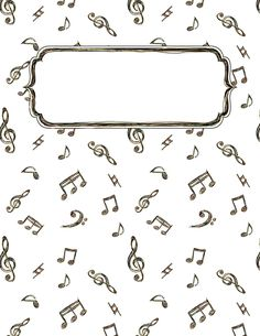 Free printable music doodle binder cover template. Download the cover in JPG or PDF format at http://bindercovers.net/download/music-doodle-binder-cover/