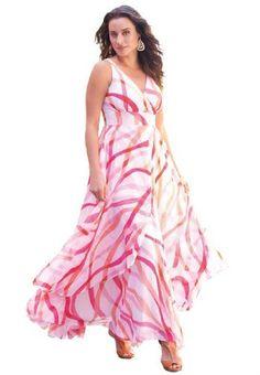 617439d1298 Jessica London Women s Plus Size Flyaway Maxi Dress Print
