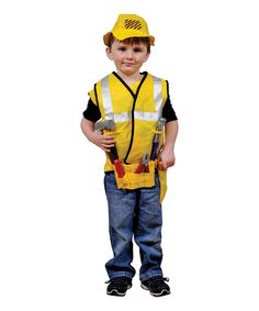 Take a look at this Yellow Construction Worker Dress Up Set - Toddler & Kids on zulily today!