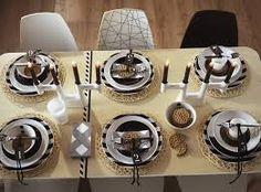 Afbeeldingsresultaat voor Modern gedekte tafel