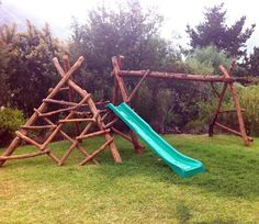 Truly natural jungle gyms! Beautiful ideas!