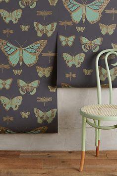 Lepidoptera Wallpaper - anthropologie.com, Cole & Son Butterflies & Dragonflies