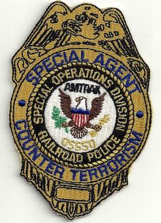 RAILROAD POLICE AMTRAK SPECIAL AGENT PATCH w/ STICKER ON BACK picclick.com