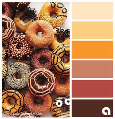 Palettes of life. Love of color. Hues of feelings. Colors are everywhere! I just follow them! I find pretty pictures on the internet and get inspired. I use Photoshop to handpick the color palettes.