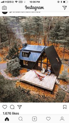 future house architecture A-Frame Cabin receives an A Makeover - Wood Design Tiny House Cabin, Cabin Homes, Small Log Cabin, Cozy Homes, Cottage Homes, Cabin Design, Tiny House Design, Wood Design, Wood House Design