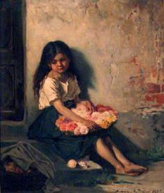 Flower Girl by Jenny Nystrom Elsa Beskow, Beauty In Art, Famous Art, Baby Art, Illustration Artists, Art Of Living, Vintage Postcards, Troll, Art History