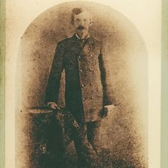 """True West Magazine's Instagram profile post: """"Doc In Prescott, 1879 This verified photograph of John H. Holliday was taken in the capital of Arizona Territory in late 1879. Does it…"""" Famous Photos, Old Photos, Mary Doria Russell, Pat Garrett, Growing A Mustache, Court Dates, Wyatt Earp, High Cheekbones, Doc Holliday"""
