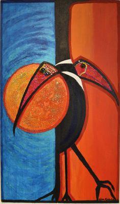 Three Birds Tall by RIITTAKALENIUSART on Etsy, $1000.00