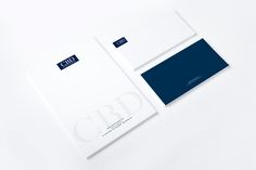 Corporate stationery, Investment Banking, Navy Blue and White, Letterhead and Envelopes