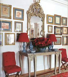 Consider introducing an antique console as an Entry focal point | via splendid sass...