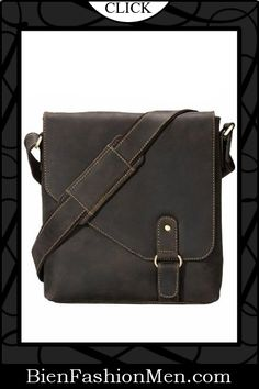 Mens Messenger Bags ♦ Visconti 16071 Oiled Distressed Leather Messenger Shoulder Bag Hunter $124.99
