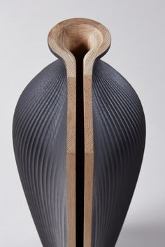 Joint Winner - Bespoke Ves-el by Gareth Neal in collaboration with Zaha Hadid  or this project, Zaha Hadid was invited to collaborate with Gareth Neal, commissioning him to create a bespoke design for something Hadid has always wanted but had never been able to find. The brief was simple, to create some form of tableware from wood.
