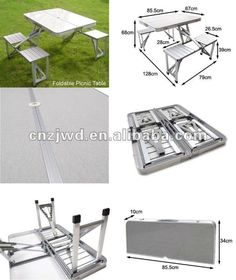 Folding Aluminum Picnic Table With Chairs - Buy Folding Picnic Table,folding…