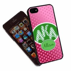 Polka Dots Alpha Kappa Alpha iphone Cover #AKA #sororityiphonecover #followprettypearlsinc AKA 1908
