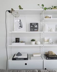 String shelf styling. by Michelle Halford from TDC. Love this styling
