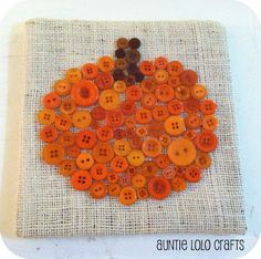 Auntie Lolo Crafts: Pumpkin Button Art