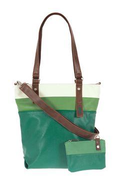 Frauentaschen :: DAILY :: D14 | ZWEI Taschen Handtasche :: mehrfarbig :: lederfrei :: petrol :: grün