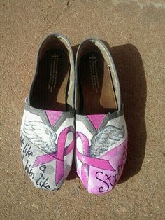 Breast cancer toms This is an idea for Race for the Cure if we had the money.