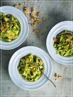 Bärlauch Tagliatelle Sprouts, Vegetables, Food, Al Dente, Play Dough, Recipes, Vegetable Recipes, Eten, Veggie Food