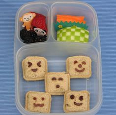 Too adorable and easy. It's the best finder food ever and I have containers like that for my kid's lunches