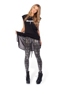 (XL) Wallpaper Shiny Shiny (And High-Waisted!) Leggings › Black Milk Clothing
