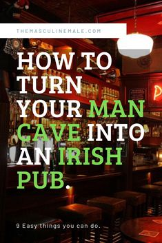 Turning your man cave into a home pub is very popular. Irish pubs are among the most recognizable pubs. Read this article and find out how to get an Irish pub theme into your own man cave. Pub Signs, Beer Signs, Man Cave Pub, Irish Symbols, Irish Beer, Home Pub, Boxing Fight, Old Sewing Machines, Dark Wood Stain
