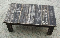 stenciled pallet table  upcycling ideas {perfect pallet projects} - the space between