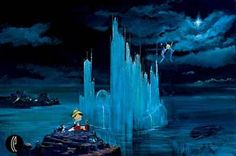 Disney Fine Art - Blue Castle. Blue Fairy's Castle from Pinocchio. Biggs Ltd. Gallery. Heirloom quality bridal, art, baby gifts and home decor. 1-800-362-0677. $1,100.