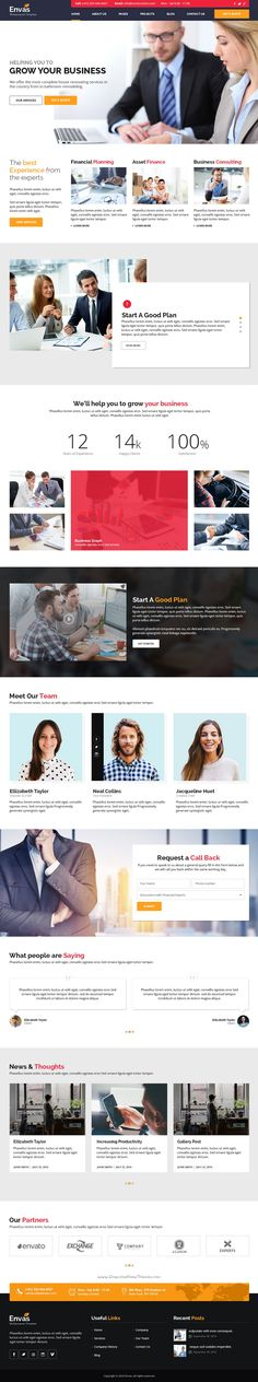 Envas is a corporate business PSD #template best suitable for #finance, #consultancy or other similar business #website. Download Now!