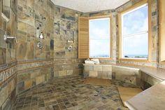 Sauna shower master bathroom..
