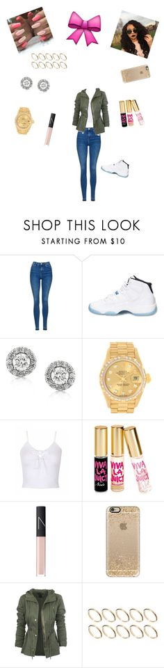 """""""Untitled #352"""" by lailazariel ❤ liked on Polyvore featuring Topshop, Retrò, Mark Broumand, Rolex, Juicy Couture, NARS Cosmetics, Casetify and ASOS"""