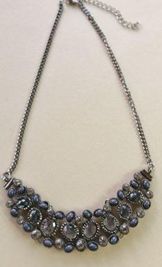 Vintage bib necklace by LoveandLifeCreations on Etsy