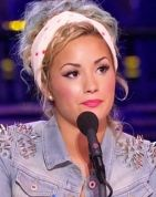 Want to copy Demi Lovato's cute, curly X Factor updo? Here's a how-to from her hair pro.