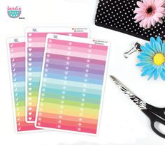 Little things Asterisk, Heart, Check, Planner Stickers, perfect for Erin Condren Planner and other planners. de SandiaStickers en Etsy