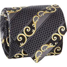 Versace Diamond Scroll Tie
