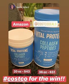 """bdd23019630 COSTCO DEALS on Instagram  """"🙌Amazon vs Costco! Right now this   vitalproteins 36oz is available on Costco.com for only  51 with   freeshipping!"""
