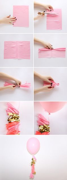 How to make your own tassel balloon in less than 5 minutes!