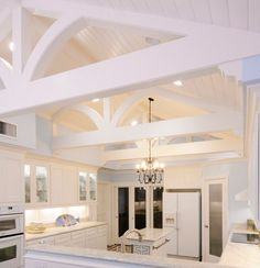 Painted Wood Truss