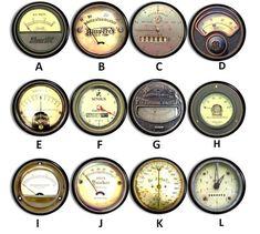 Industrial Meter Drawer Pulls Steampunk by WallpaperYourWorld Steampunk Design, Steampunk Diy, Steampunk Circus, Steampunk Theme, Steampunk Fashion, Vintage Industrial Decor, Vintage Antiques, Industrial Style, Industrial Lamps
