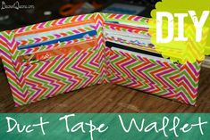 52 Weeks of Pinterest: Week 40 - DIY Duct Tape Wallet!
