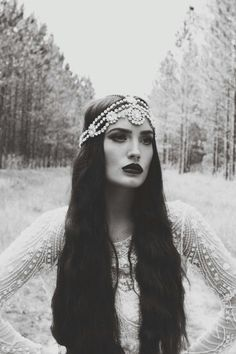 I don't know why, but I love this picture. Cute boho head dress