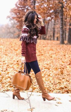 "DECEMBER 8, 2014 FAIR ISLE... - SWEATER: Glamorous (size small) | DENIM: Dittos c/o (more styles here) | BOOTS: Louise Et Cie | BAG: Valentino (love this one!) | SUNGLASSES: Karen Walker | EARRINGS: BaubleBar c/o | WATCH: Michael Kors | BRACLETS: David Yurman, Brandy Pham c/o,  Alex & Ani | LIPS: new fave.. ""Barbara"" (lined a tiny bit w/""Soar"") 
