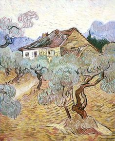 "fravery: "" Vincent van Gogh ""The white cottage among olive trees"" (1889). """