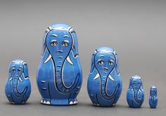 Matryoshka nesting doll elephant Free shipping Worldwide | ArtMatryoshka - Toys & Hobbies on ArtFire