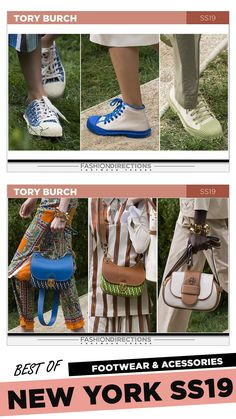 #nyfw #2018 #ss19 #bestof #womens #footwear #shoes #handbags #trends #fashion #accessories #fashiondirections #toryburch