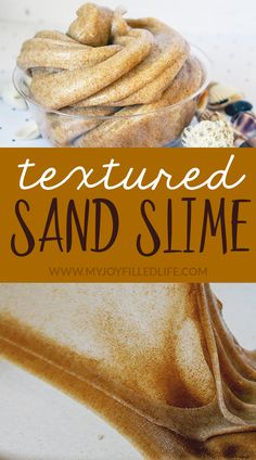 How For Making Candles In Your House - Solitary Interest Or Relatives Affair This Textured Sand Slime Activity Is An Absolute Must Try If You Have Kids That Love Ocean Or Beach Themed Projects - They Are Going To Love This One. Diy Crafts Slime, Slime Craft, Fun Crafts, Crafts For Kids, Quick Crafts, Bible Crafts, Holiday Crafts, Wood Crafts, Beach Themed Crafts