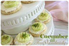 Cucumber Dill Tea Sandwiches