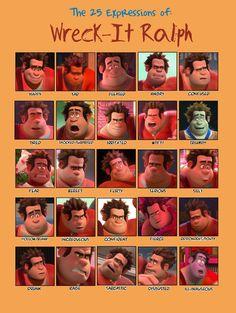 25 Expressions Challenge: Wreck-It Ralph by HannahPewee.deviantart.com on @deviantART